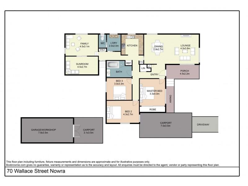 70 Wallace Street, Nowra NSW 2541 Floorplan