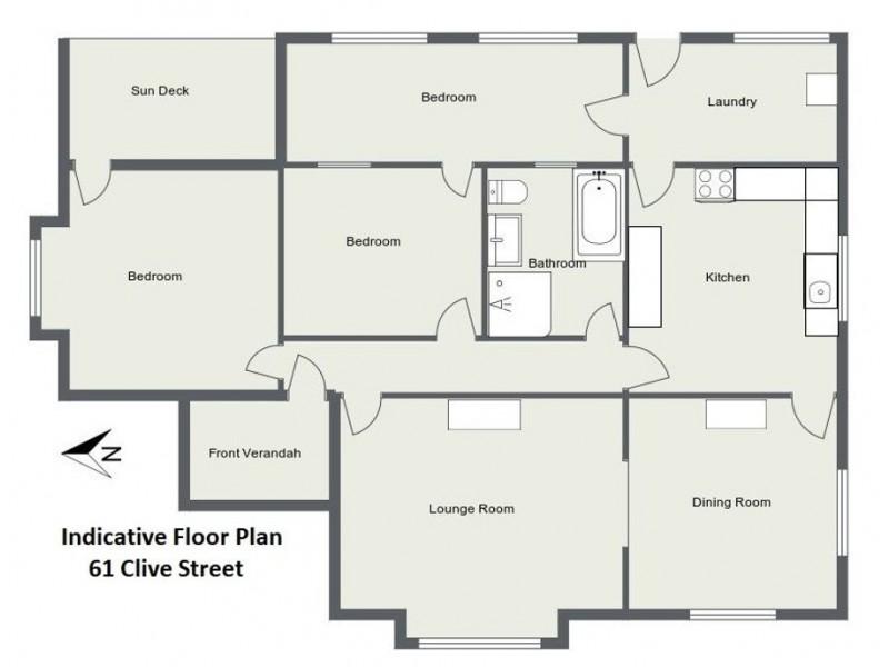 61 Clive Street, Tenterfield NSW 2372 Floorplan