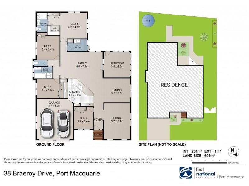 38 Braeroy Drive, Port Macquarie NSW 2444 Floorplan