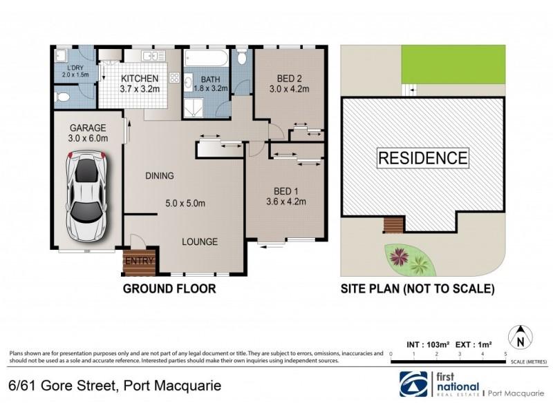 6/61 Gore Street, Port Macquarie NSW 2444 Floorplan