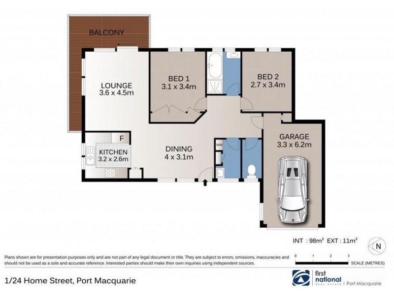 1/24 Home Street, Port Macquarie NSW 2444 Floorplan