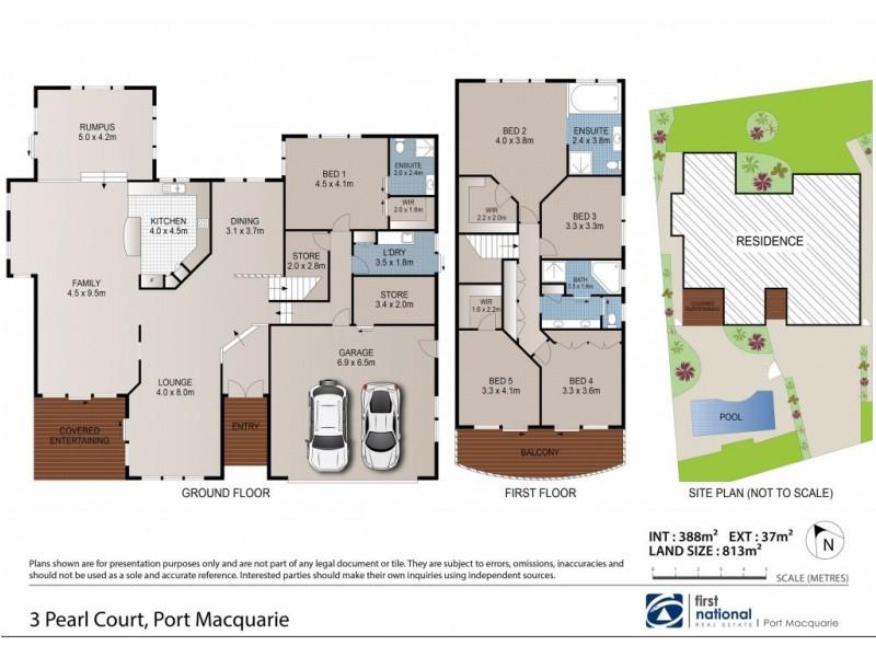 3 Pearl Court, Port Macquarie NSW 2444 Floorplan