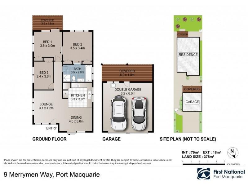 9 Merrymen Way, Port Macquarie NSW 2444 Floorplan