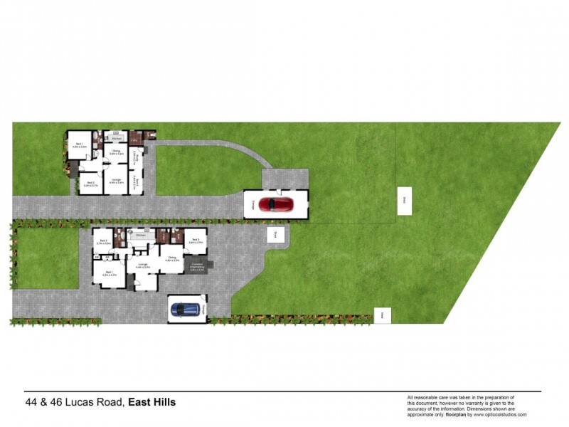 44 & 46 Lucas Road, East Hills NSW 2213 Floorplan