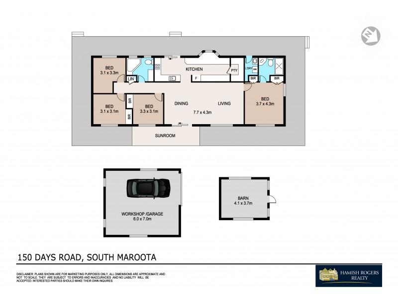 150 Days Road, South Maroota NSW 2756 Floorplan