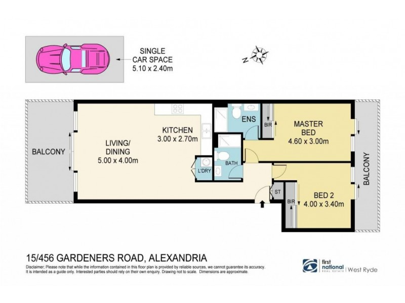 15/456 Gardeners Road, Alexandria NSW 2015 Floorplan