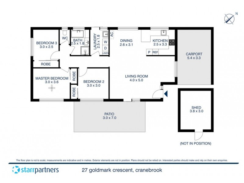 27 Goldmark Crescent, Cranebrook NSW 2749 Floorplan