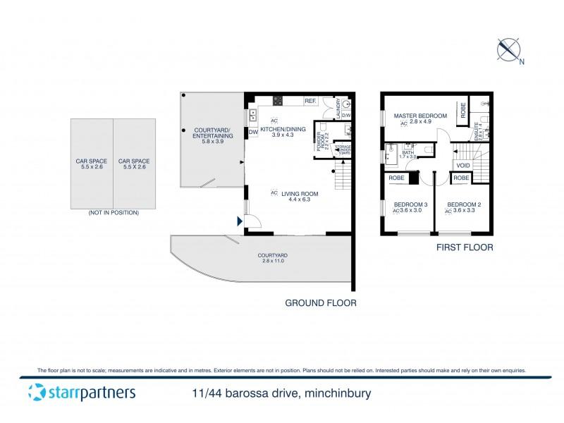 11/44 Barossa Drive, Minchinbury NSW 2770 Floorplan
