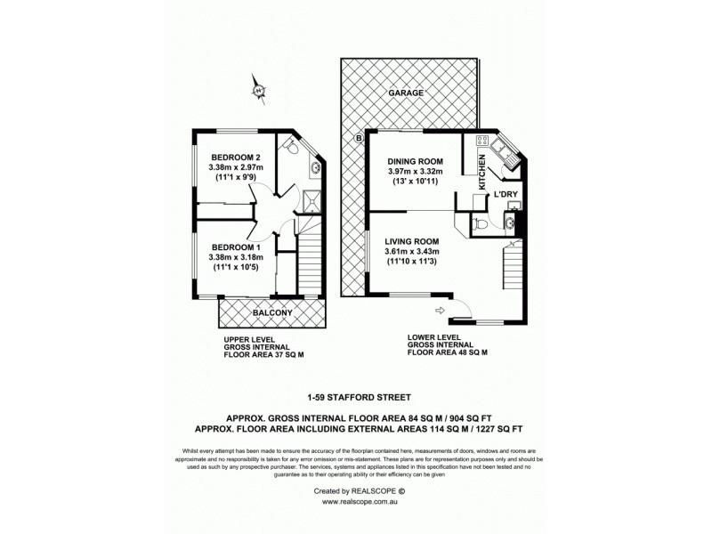 1/59 Stafford Street, East Brisbane QLD 4169 Floorplan
