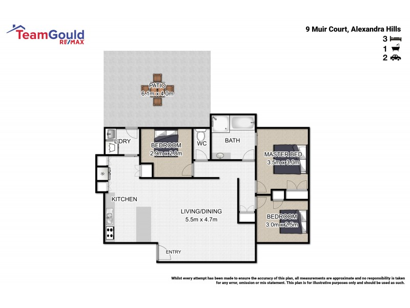 9 Muir Crt, Alexandra Hills QLD 4161 Floorplan