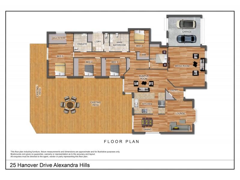 25 Hanover Drive, Alexandra Hills QLD 4161 Floorplan
