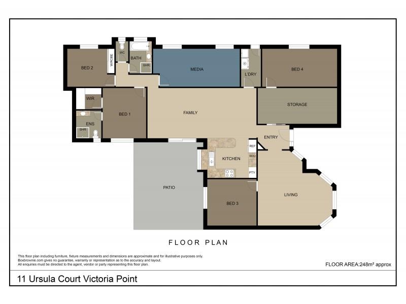 11 Ursula Court, Victoria Point QLD 4165 Floorplan