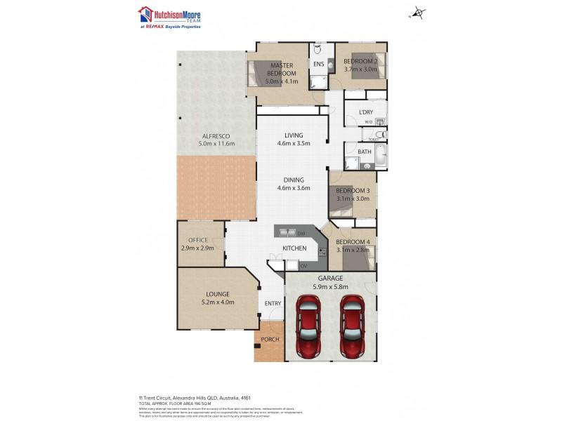 11 Trent Circuit, Alexandra Hills QLD 4161 Floorplan