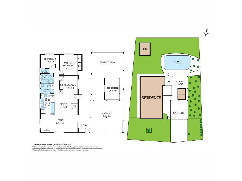 16 Hampshire Crescent, Alexandra Hills QLD 4161 Floorplan