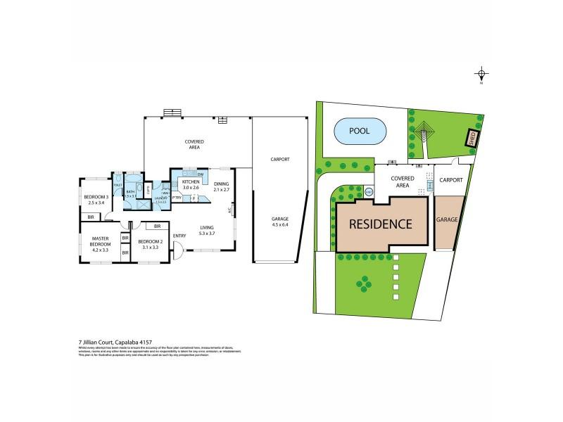 7 Jillian Court, Capalaba QLD 4157 Floorplan