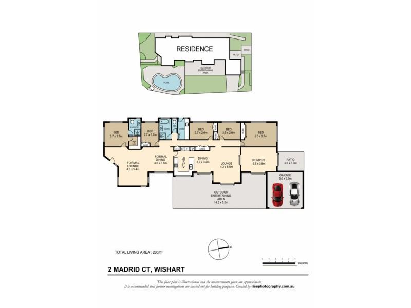 2 Madrid Court, Wishart QLD 4122 Floorplan