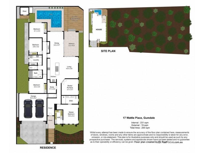 17 Wattle Place, Gumdale QLD 4154 Floorplan
