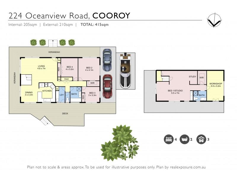 224 Ocean View Road, Cooroy QLD 4563 Floorplan