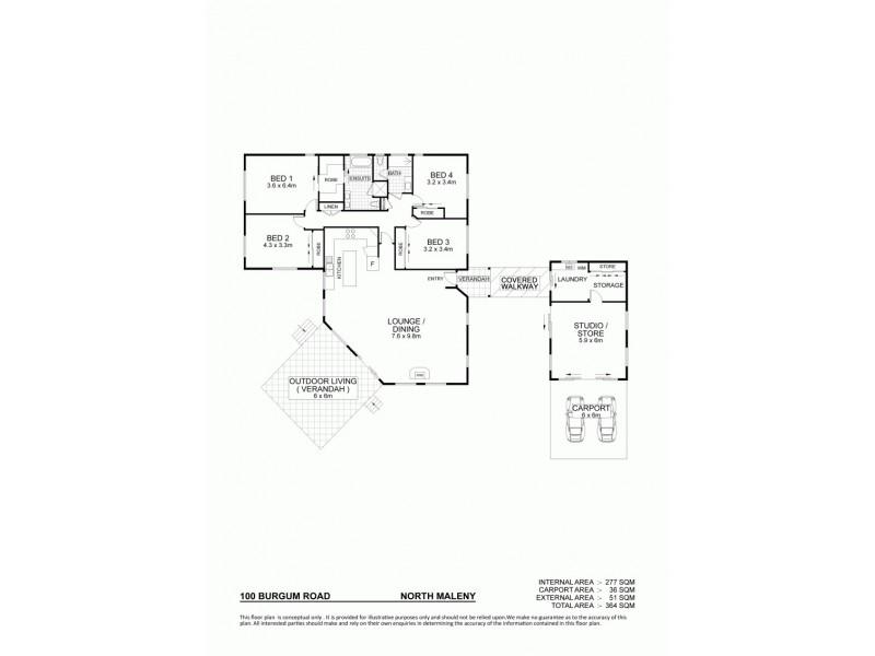 100 Burgum Road, North Maleny QLD 4552 Floorplan
