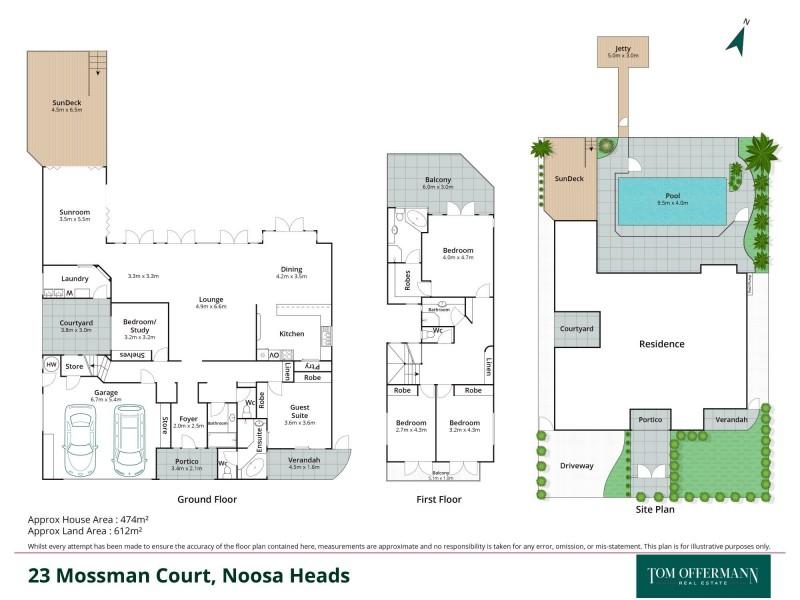 23 Mossman Court, Noosa Heads QLD 4567 Floorplan
