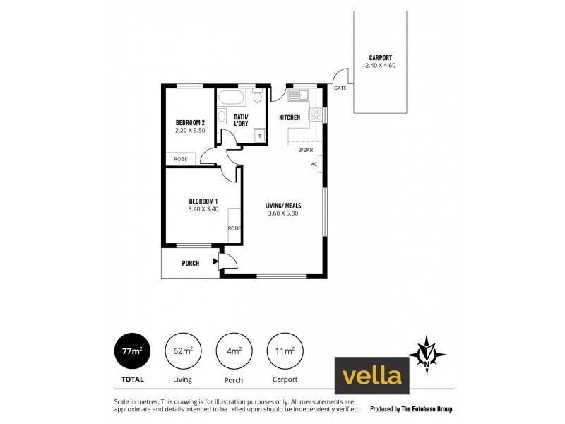 1/22 Orient Road, Kensington Gardens SA 5068 Floorplan