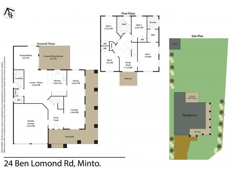 24 Ben Lomond Road, Minto NSW 2566 Floorplan