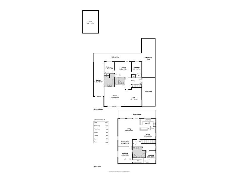 391 Commercial Road, Moana SA 5169 Floorplan