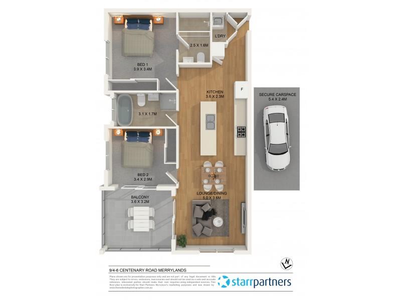 9/4-6 Centenary Road, Merrylands NSW 2160 Floorplan