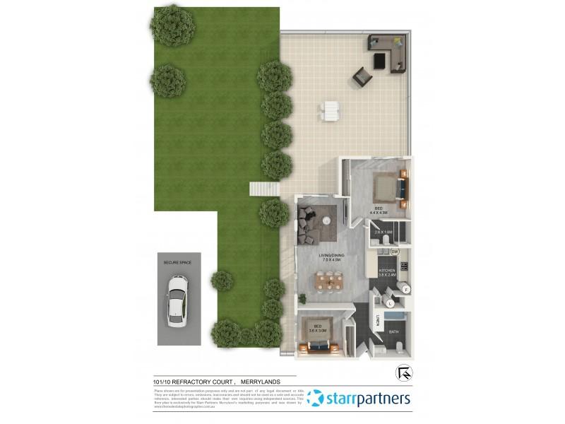 101/10 Refractory Court, Merrylands NSW 2160 Floorplan