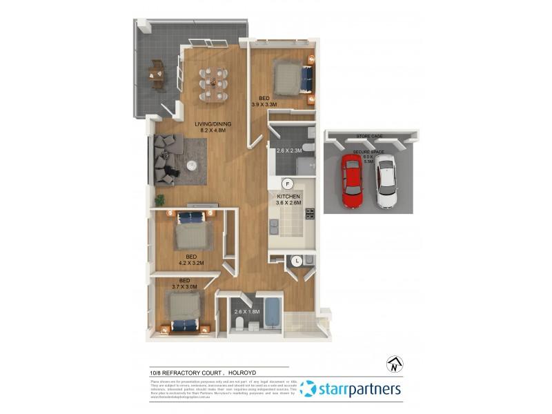 10/8 Refractory Court, Merrylands NSW 2160 Floorplan