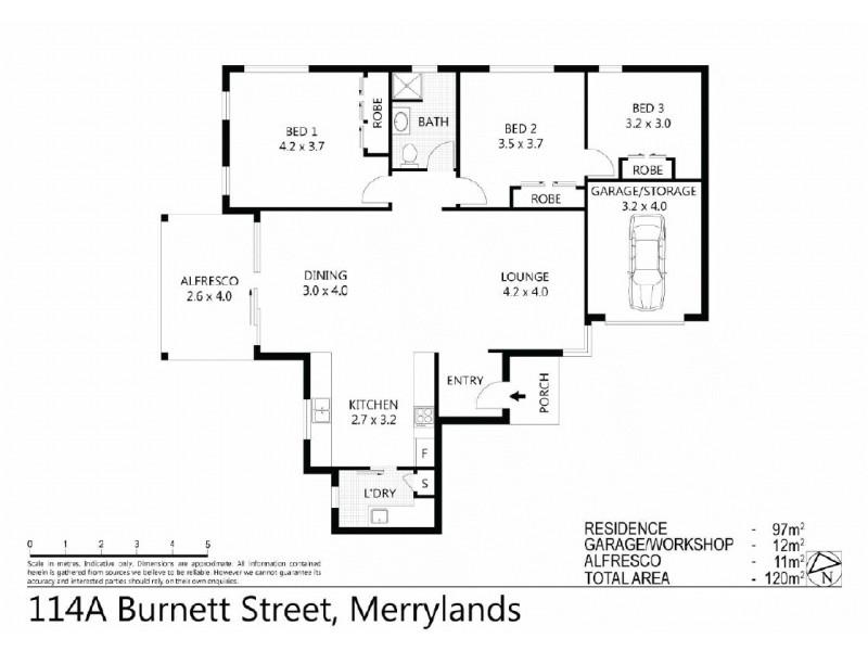 114A  Burnett Street,, Merrylands NSW 2160 Floorplan