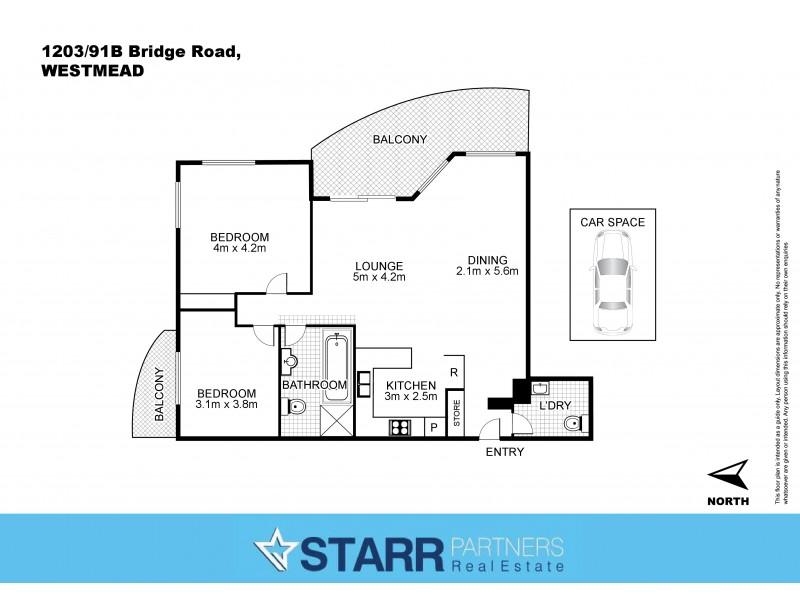 1203/91B Bridge Road, Westmead NSW 2145 Floorplan