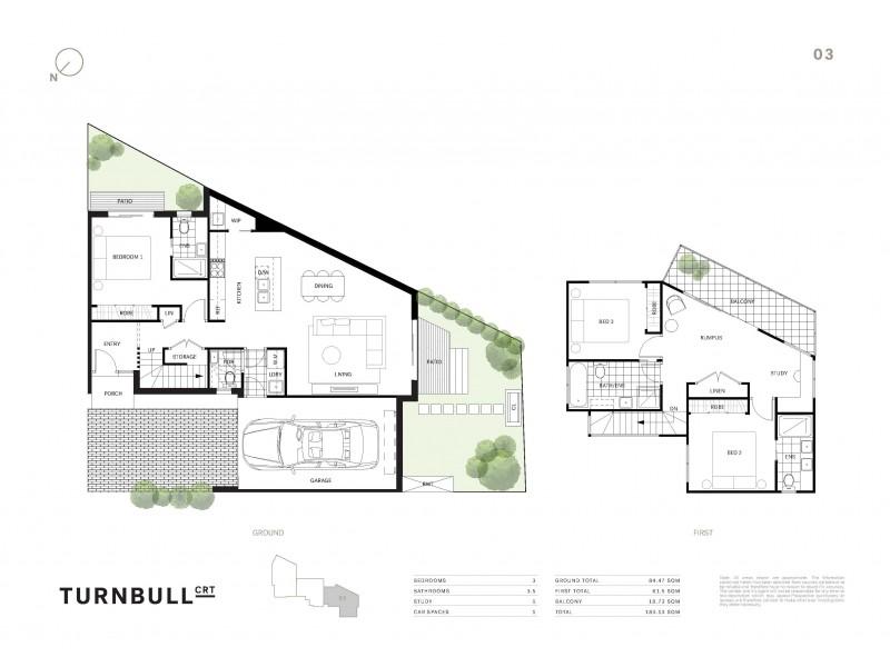1,2 &3/4 Turnbull Court, Brunswick West VIC 3055 Floorplan