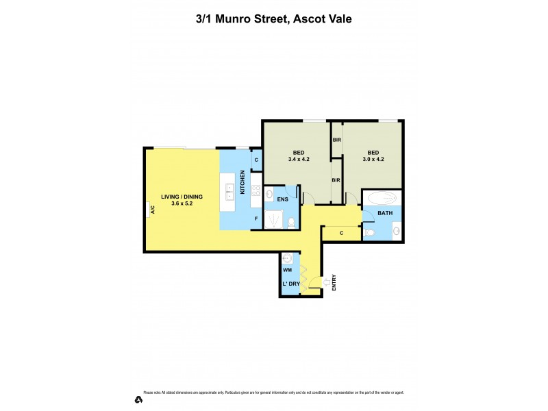 3/1 Munro Street, Ascot Vale VIC 3032 Floorplan
