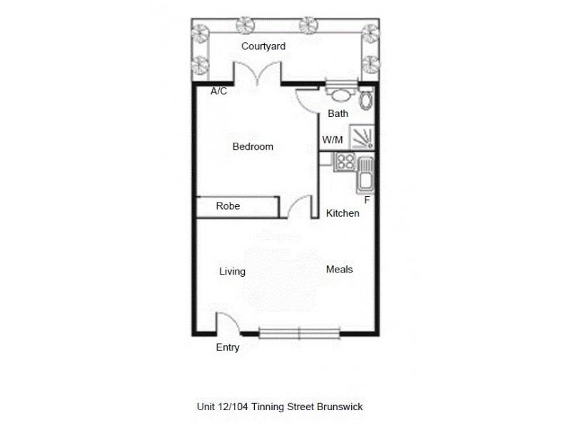 12/104 Tinning Street, Brunswick VIC 3056 Floorplan