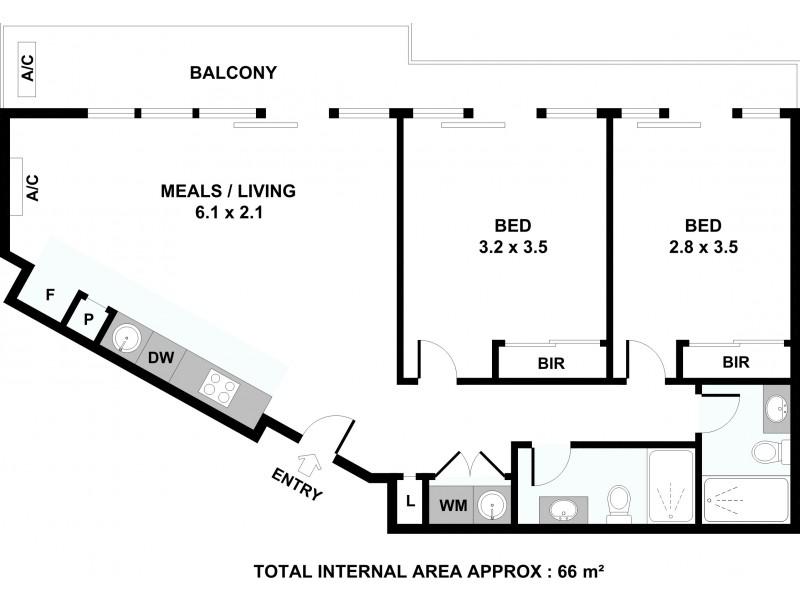 8/3-5 Langs Road, Ascot Vale VIC 3032 Floorplan
