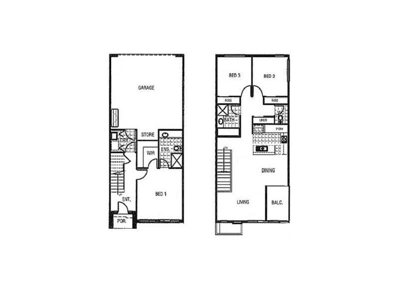 19/8 The Crossing, Caroline Springs VIC 3023 Floorplan