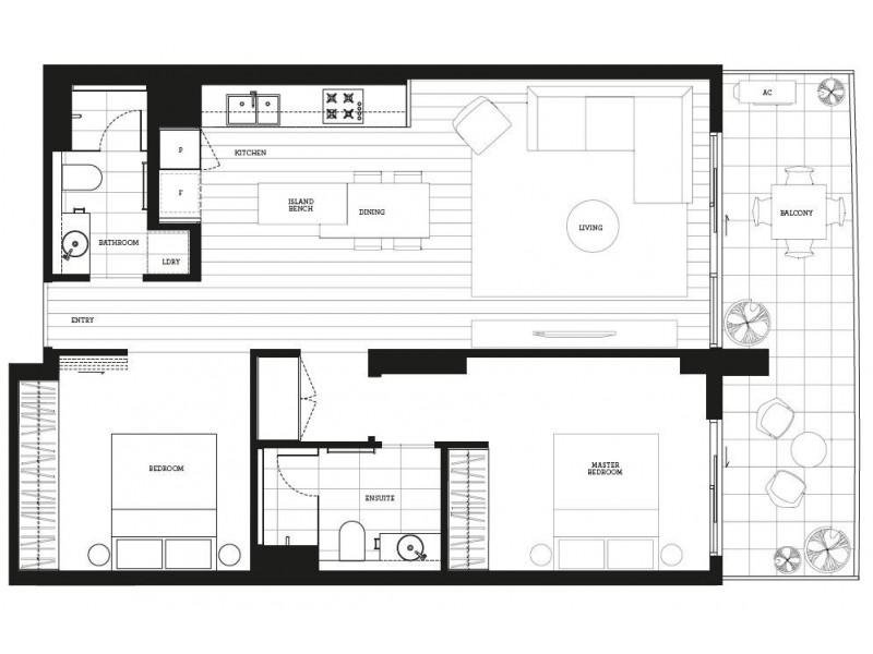 607/6 Acacia Place, Abbotsford VIC 3067 Floorplan