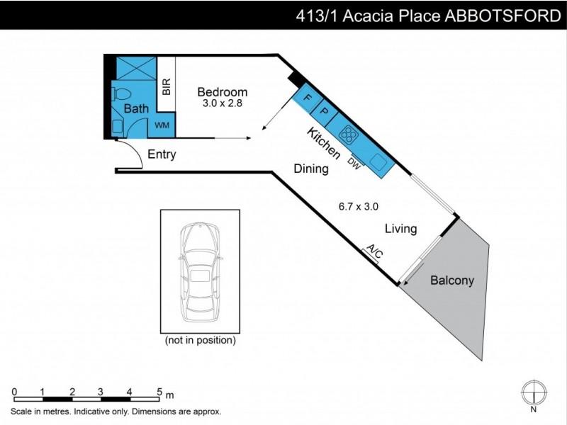 413/1 Acacia Place, Abbotsford VIC 3067 Floorplan