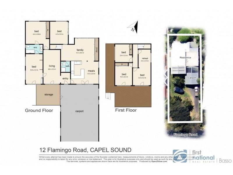 12 Flamingo Road, Capel Sound VIC 3940 Floorplan