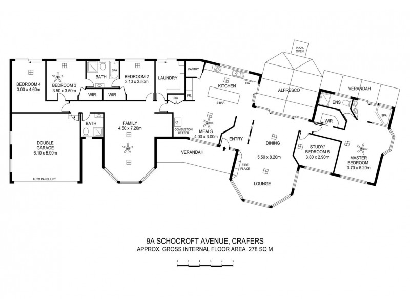 9a Schocroft Avenue, Crafers SA 5152 Floorplan