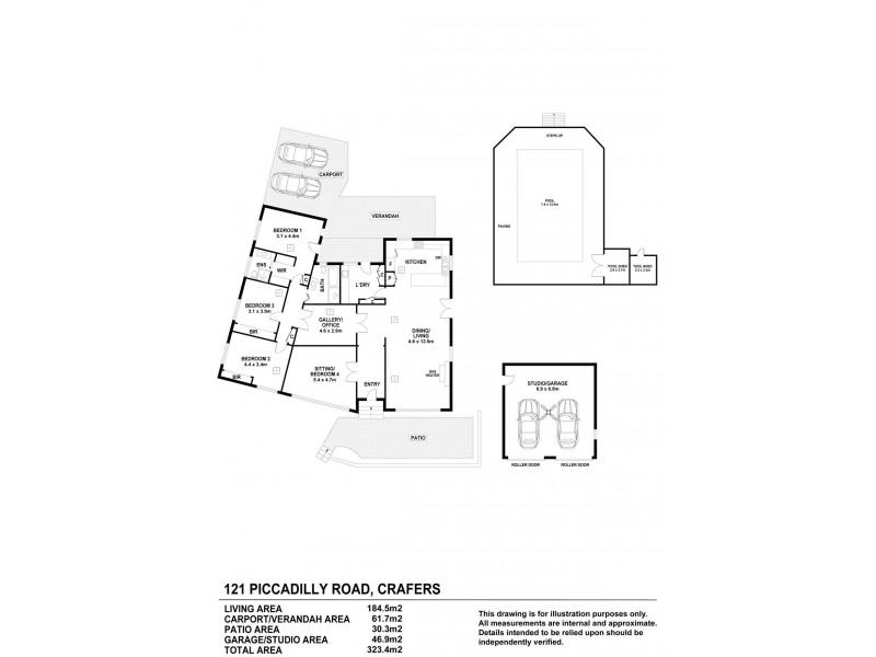 121 Piccadilly Road, Crafers SA 5152 Floorplan