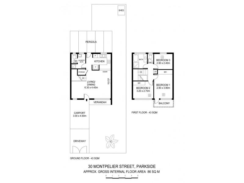 30 Montpelier Street, Parkside SA 5063 Floorplan