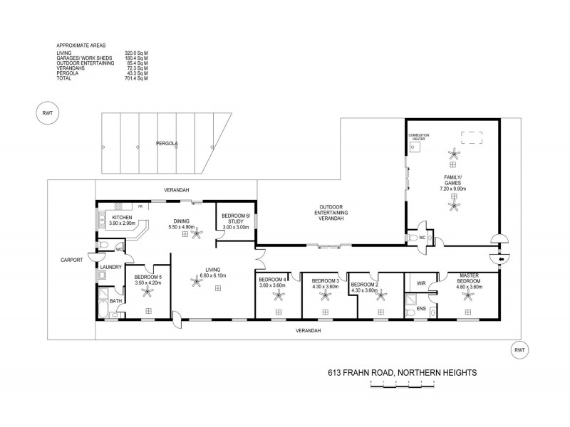 613 Frahn Road (Murray Bridge), Northern Heights SA 5253 Floorplan