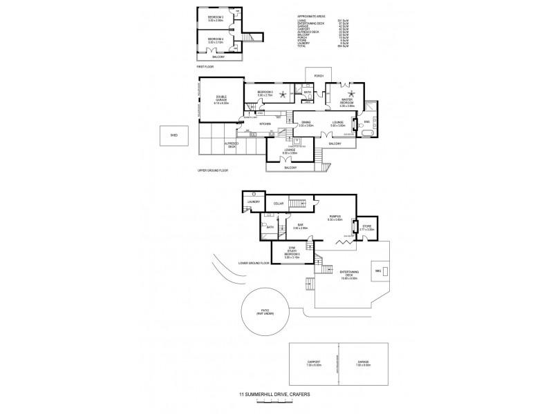 11 Summer Hill Drive, Crafers SA 5152 Floorplan