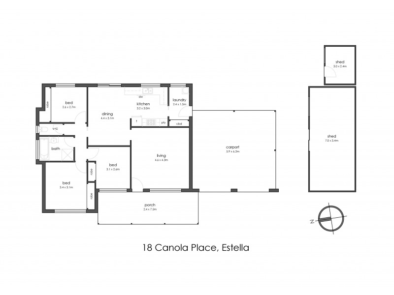 18 Canola Place, Estella NSW 2650 Floorplan