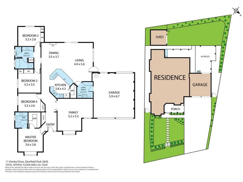 11 Kimba Drive, Glenfield Park NSW 2650 Floorplan