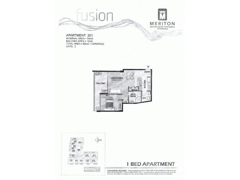 201/1 Hirst Street, Arncliffe NSW 2205 Floorplan