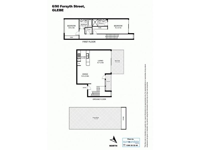 6/90 Forsyth Street, Glebe NSW 2037 Floorplan