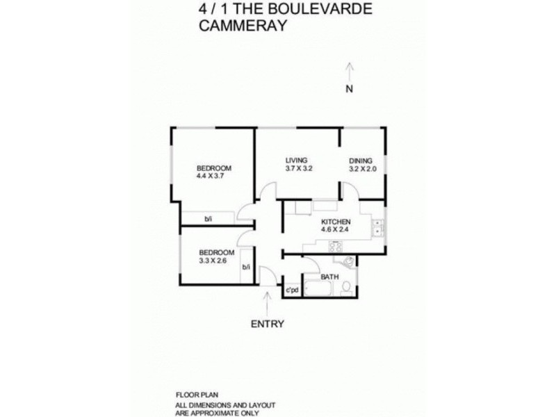 4/1 The Boulevarde, Cammeray NSW 2062 Floorplan